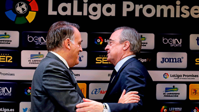 Los números 'mágicos' de Tebas para tumbar la Superliga de Florentino