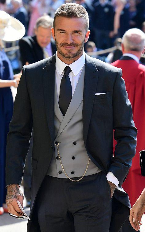 Foto: David Beckham durante la boda. (Gtres)