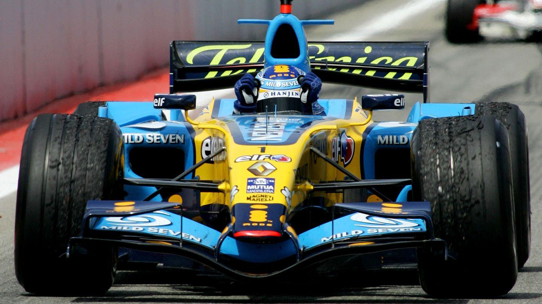 Fernando Alonso durante su exitosa primera etapa en Renault.