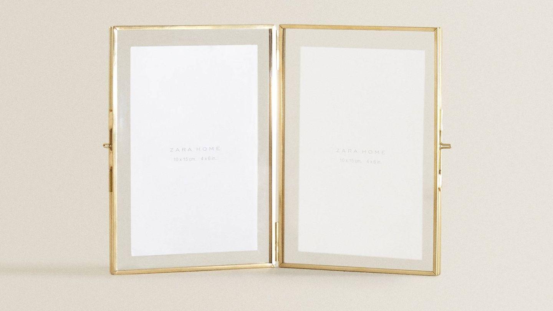 Zara Home tiene este marco dorado, ideal para el Día de la Madre. (Cortesía)