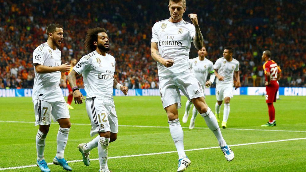 Foto: Toni Kroos celebra un gol con el Real Madrid. (Reuters)