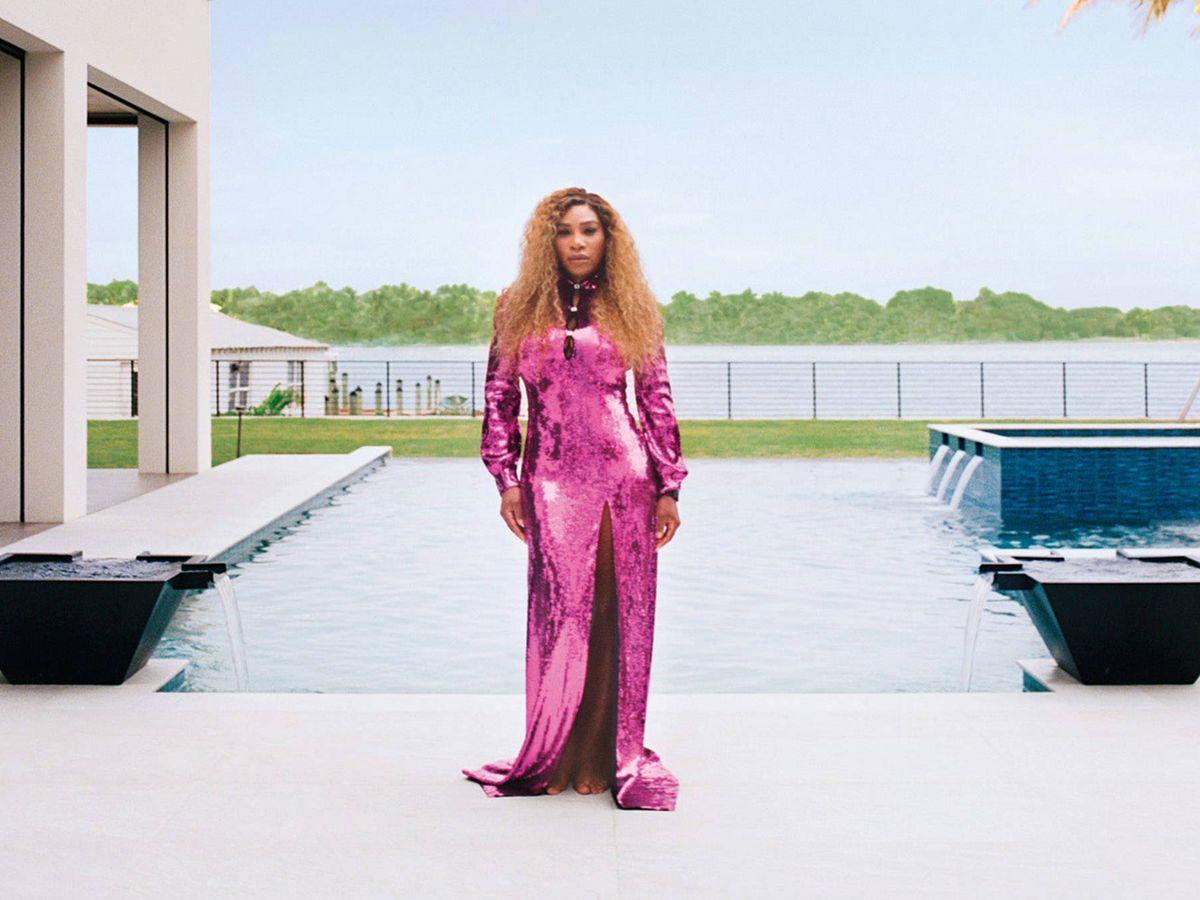 Foto: Serena Williams en su nueva mansión. (Architectural Digest / Foto: Lelanie Foster)