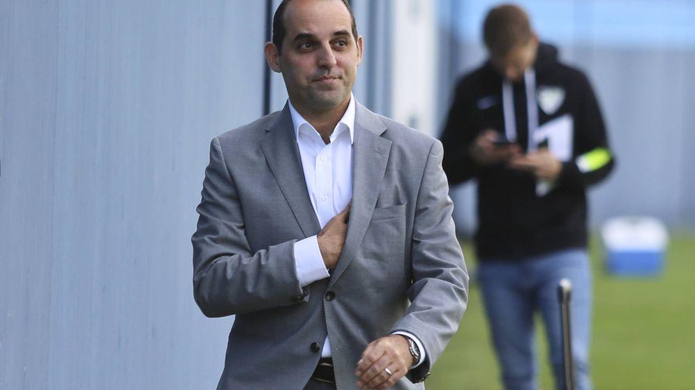 Foto: Richard Shaheen, en un entrenamiento del Málaga CF el pasado 22 de octubre (JAVIER ALBIÑANA, CEDIDA POR MÁLAGA HOY)