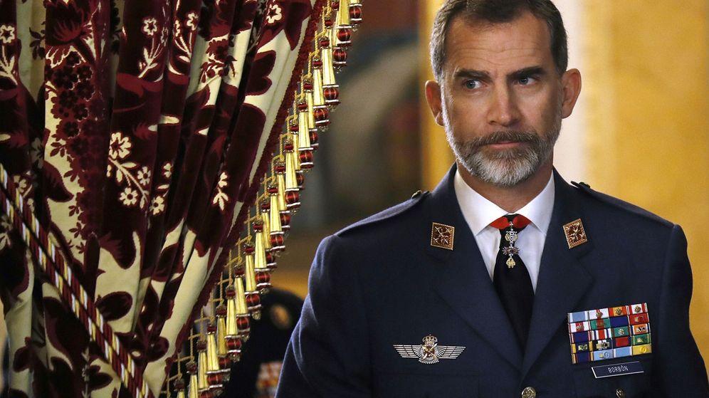 Foto: Felipe VI, durante una audiencia militar en el Palacio Real. (EFE)
