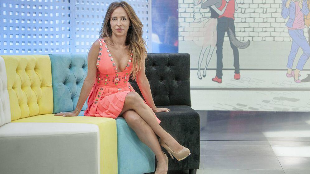 Foto: María Patiño en 'Socialité. (Mediaset España)