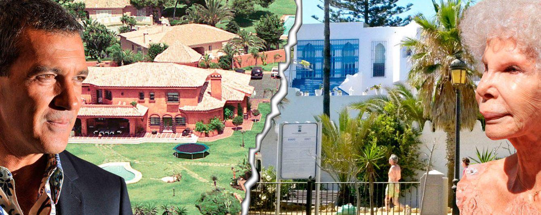Foto: Antonio Banderas y la duquesa de Alba con sus casas en Marbella en un fotomontaje de 'Vanitatis'