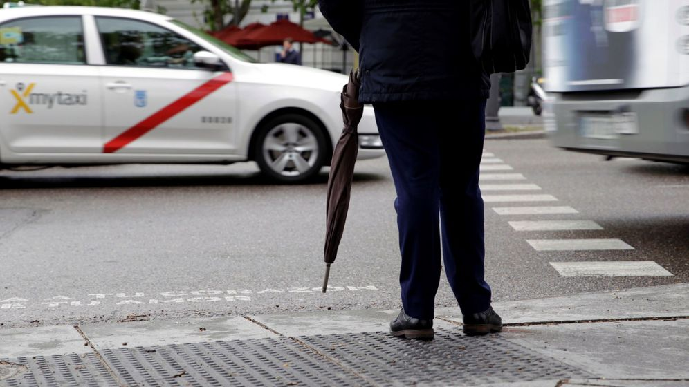 Foto: Imagen de un día de lluvia en Madrid. (Efe)