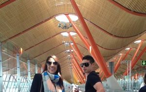 James Rodríguez es 'cazado' en el aeropuerto de Madrid-Barajas