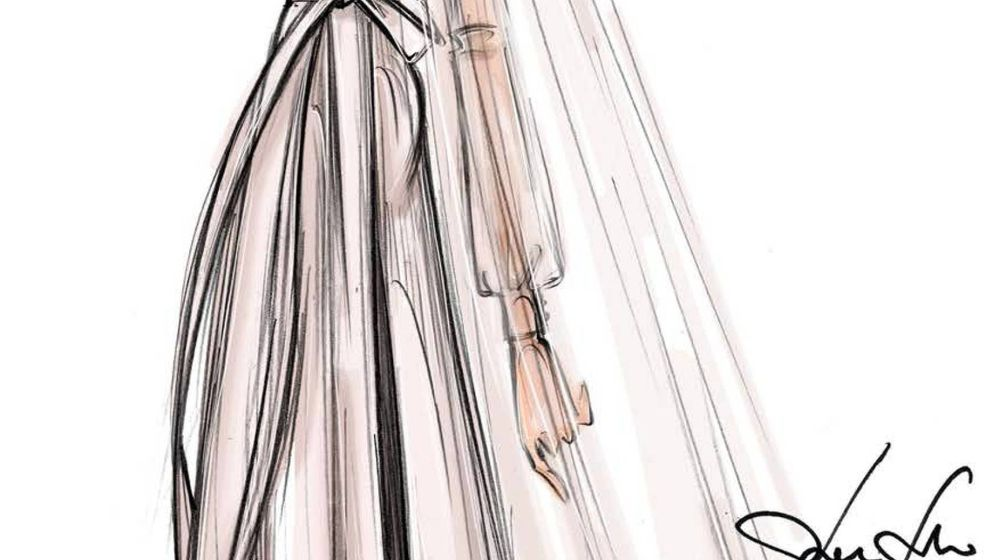 Foto: Boceto del vestido de Marta Ortega. (Valentino)