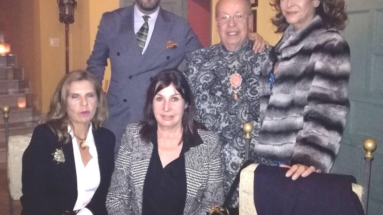 Carmen Martínez-Bordiú, Rappe, Mariángeles Grajal, Mario Niebla y Blanca Carrillo de Albornoz. (Vanitatis)