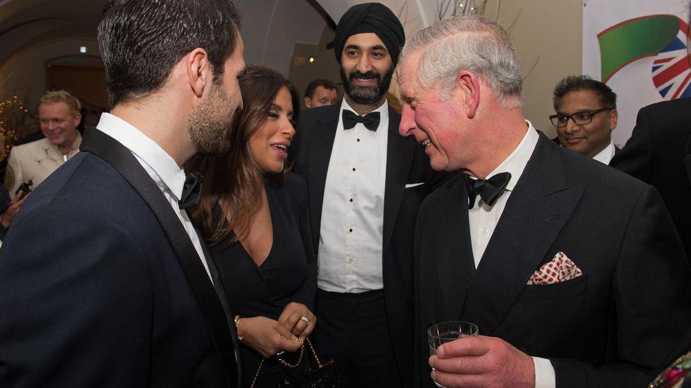 Cesc Fábregas y Daniella Semaan, invitados del príncipe Carlos