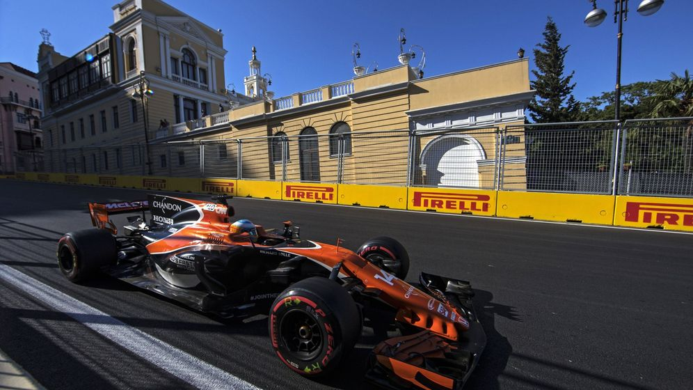 Foto: Fernando Alonso acabó noveno el GP de Azerbaiyán. (EFE)