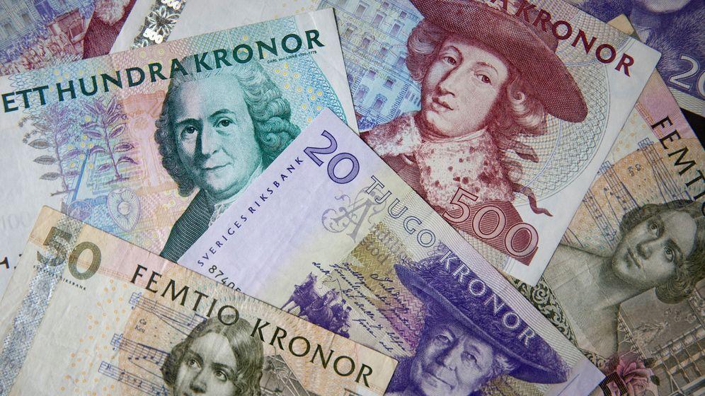 Foto: Billetes antiguos de coronas suecas. (Reuters)