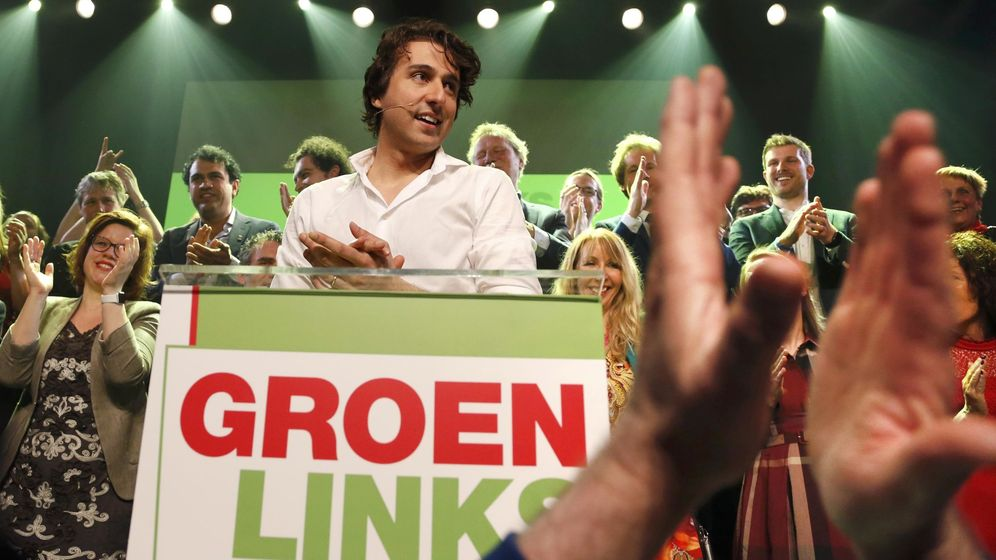Foto: Jesse Klaver, líder de los Verdes, habla ante sus seguidores en Ámsterdam, el 15 de marzo de 2017, (Reuters)