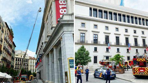Más humo que llamas en el 'incendio' del Teatro Real