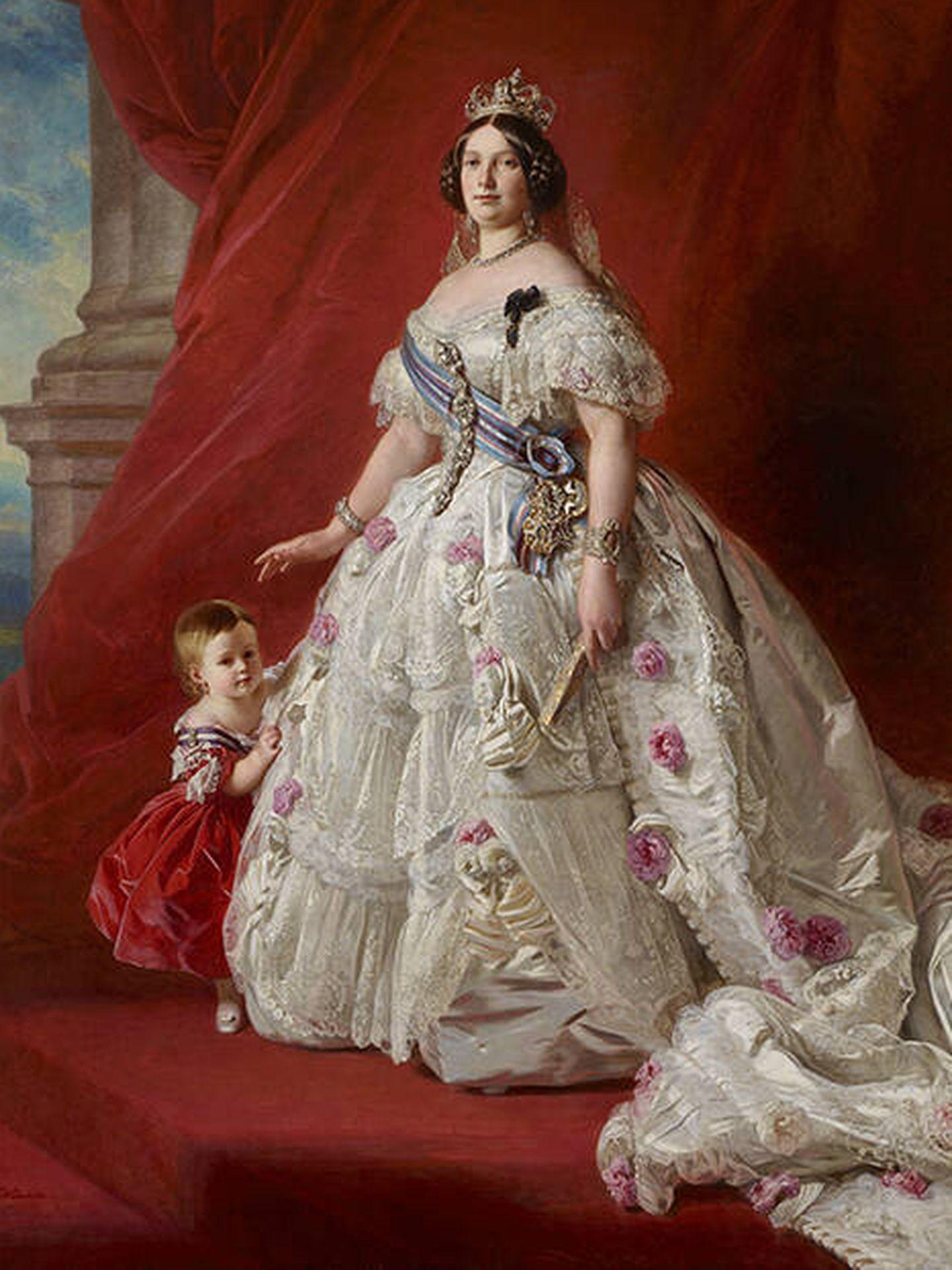Isabel II, retratada por Franz Xaver Winterhalter.