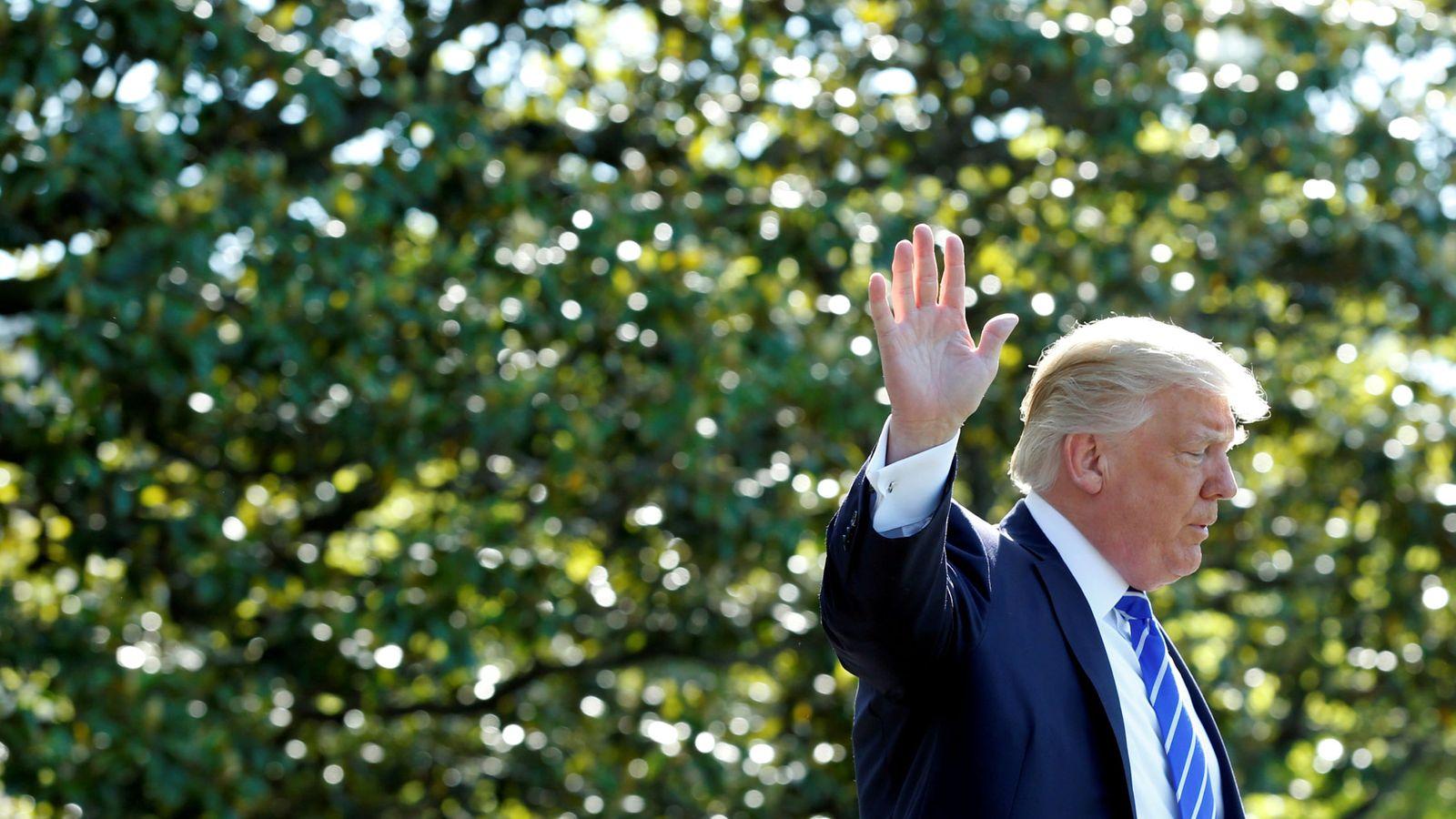Foto: El presidente de Estados Unidos se despide de la Casa Blanca antes de iniciar un viaje a Connecticut
