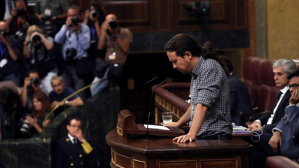 Foto: El líder de Unidas Podemos, Pablo Iglesias, interviene en la primera jornada del debate de investidura. (EFE)