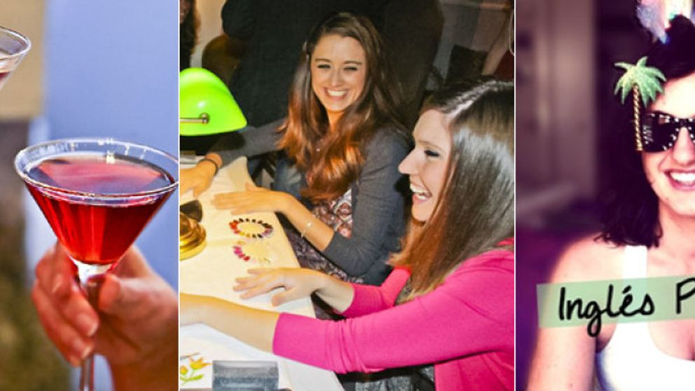 Noche de chicas: gin tonic, manicura... e inglés picante