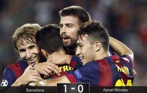 El Barça se olvida del gol en un eterno e inofensivo recital de pases