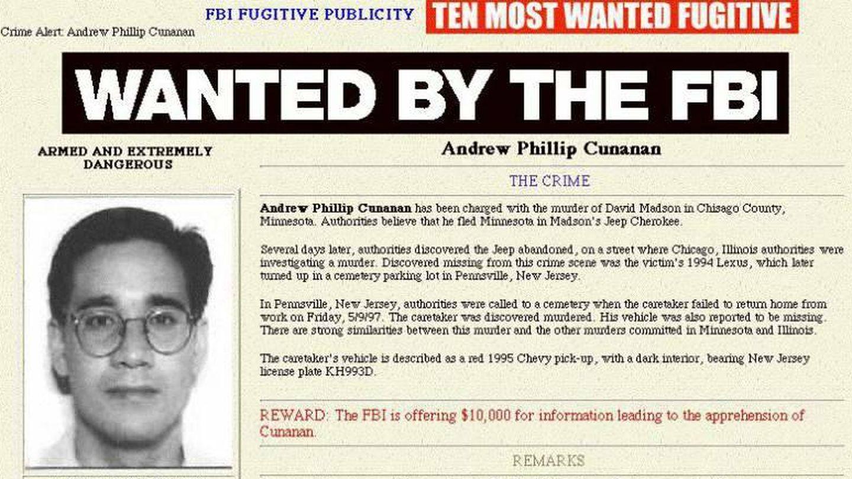 Imagen de la orden de búsqueda y captura de la web del FBI en 1997.