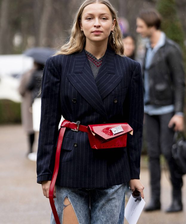 Foto: Las americanas oversize siguen siendo un hit total del street style. (Imaxtree)