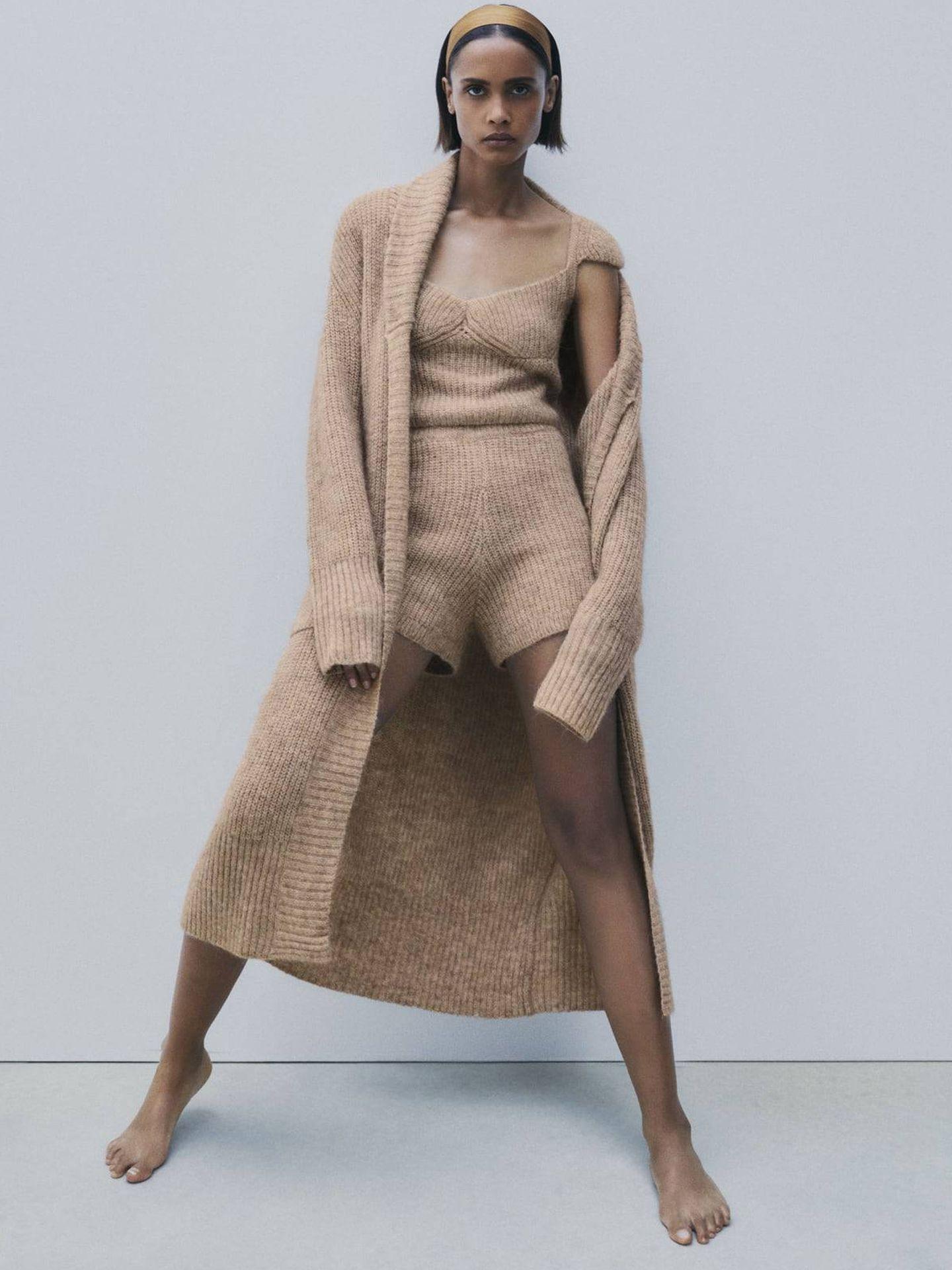 Total look de punto de Zara. (Cortesía)