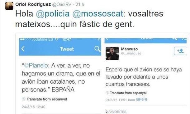 Foto: Accidente de avión: Interior investiga tuits que celebraban las víctimas catalanas