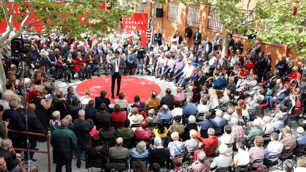 Foto: El presidente del Gobierno y candidato del PSOE para las elecciones del 28 de abril, Pedro Sánchez, en un acto en Madrid. (EFE)