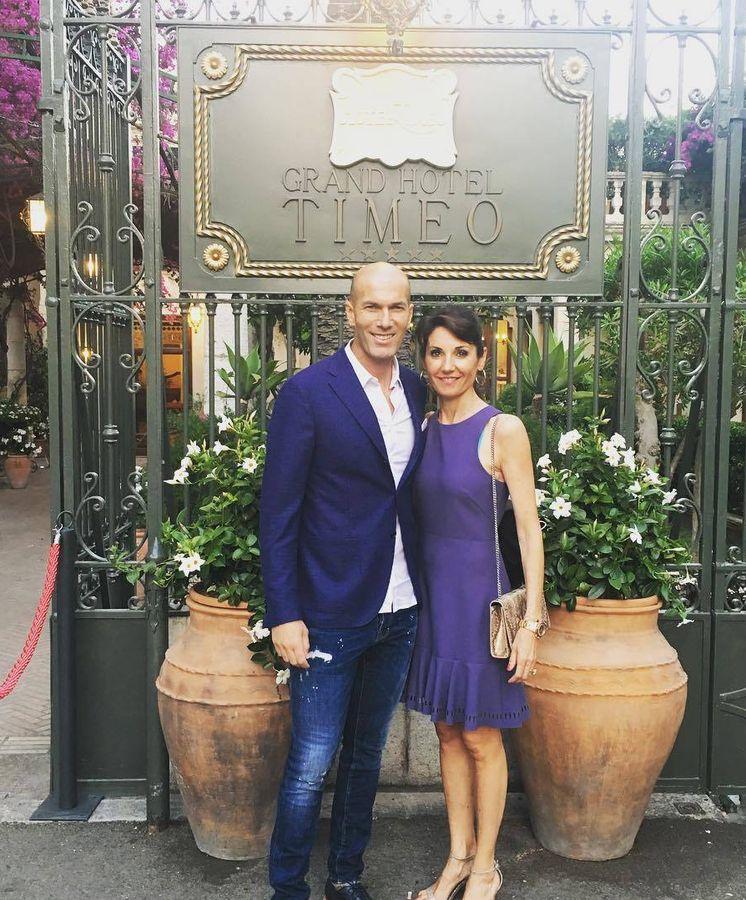 Foto:  Zidane y Veronique. (IG)
