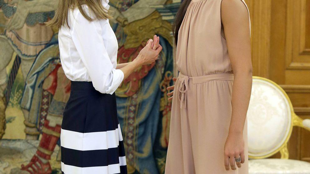 La inesperada petición de la reina Letizia a la deportista Carolina Marín