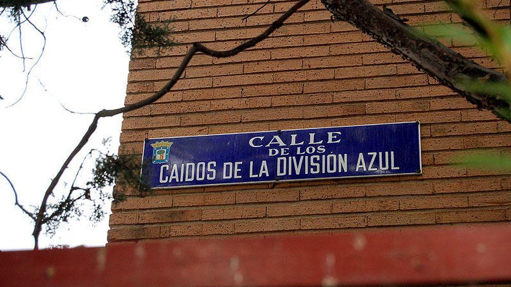 Foto: Calle Caídos de la División Azul, una de las vías que desaparecerá del callejero.