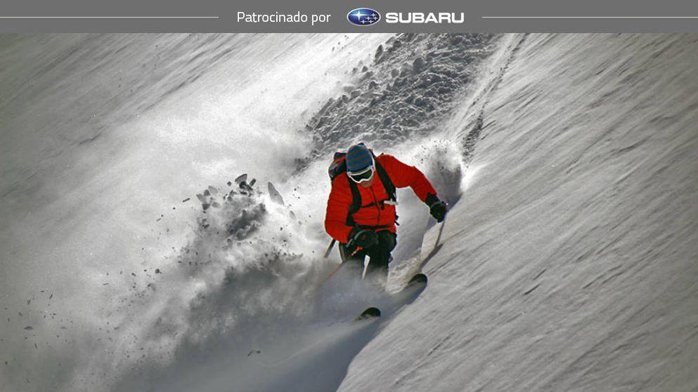 Foto: Ricardo Montoro desciende por una pala de la estación de esquí de Formigal