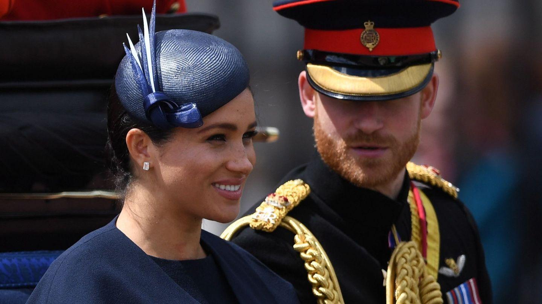 Los duques de Sussex, en su última aparición pública. (Reuters)