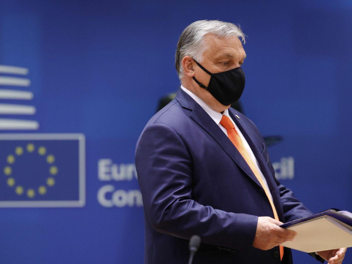 Foto: El primer ministro de Hungría, Viktor Orban, en la cumbre de la Unión Europea. (EFE)