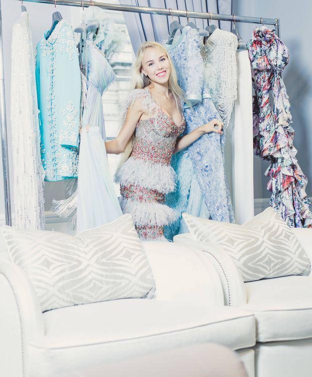 Foto: La princesa María Carolina, en el estudio de Ralph & Russo. (Fotos cedidas a Vanitatis)