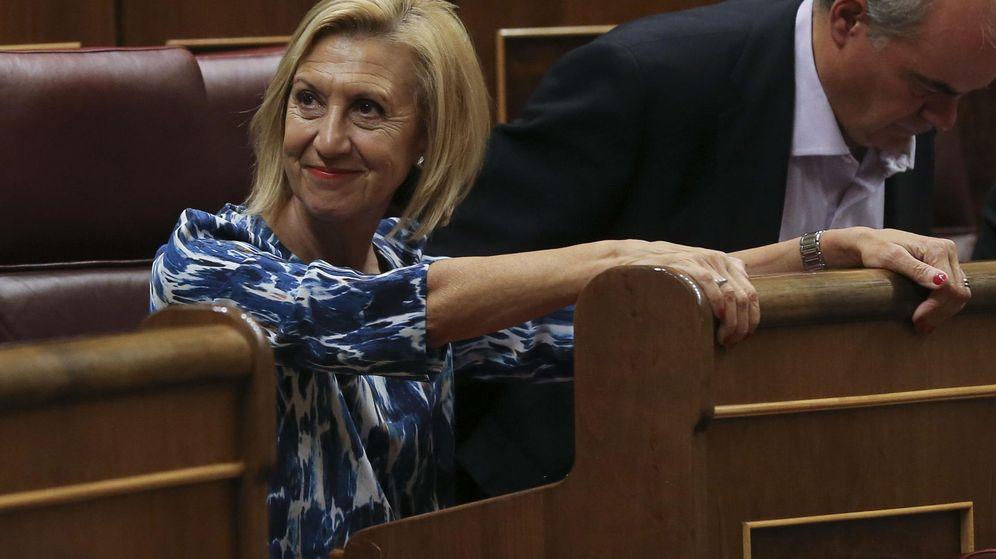 Foto: La portavoz de UPyD, Rosa Díez, en el Congreso de los Diputados durante el último pleno de la legislatura. (Efe)