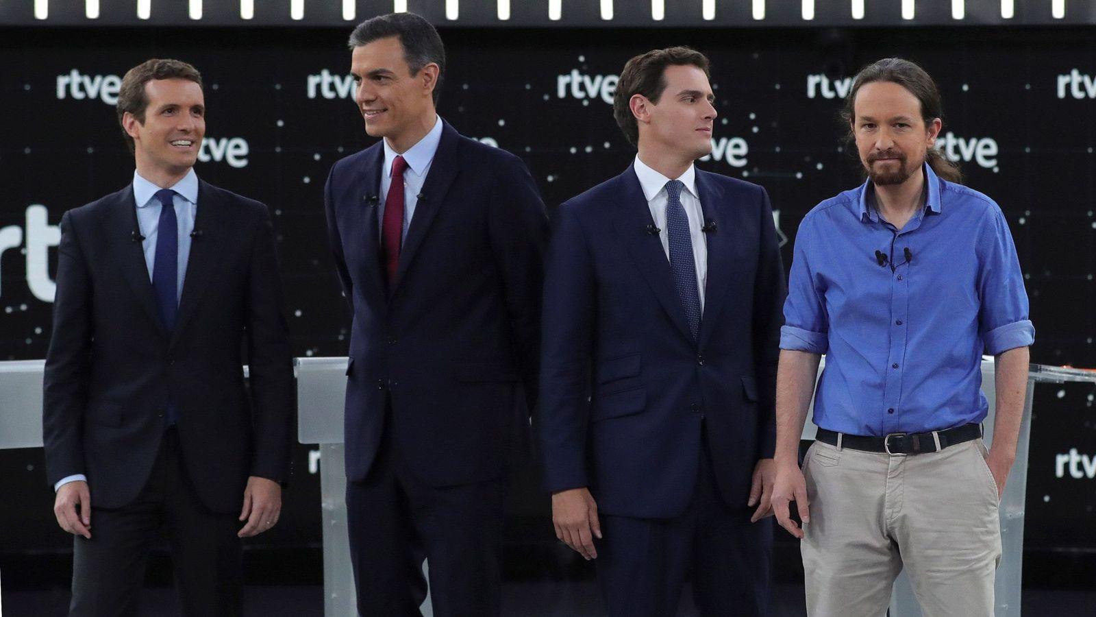 Foto: Los principales candidatos a la Presidencia del Gobierno en las elecciones generales. (EFE)