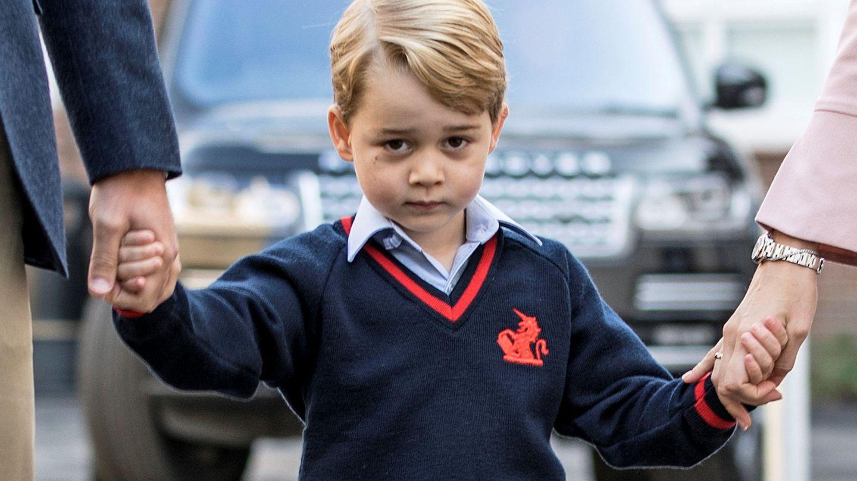 George, en su primer día de clase. (Reuters)