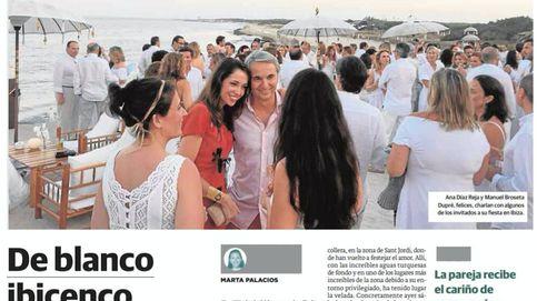 Mucho blanco 'jet set' en la boda discreta de Manuel Broseta en una playa de Ibiza
