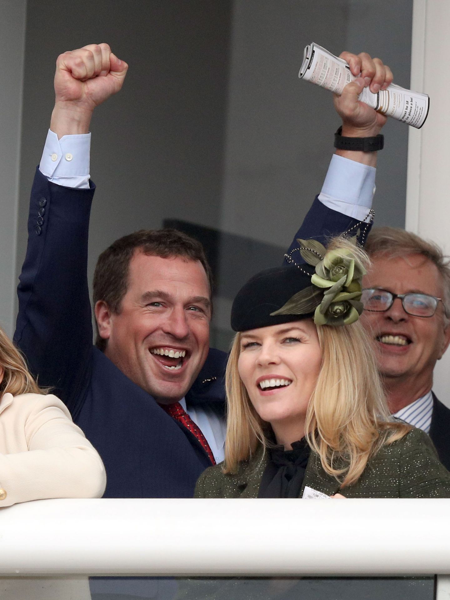 Peter Phillips y su ex mujer, Autumn Kelly. (Reuters)