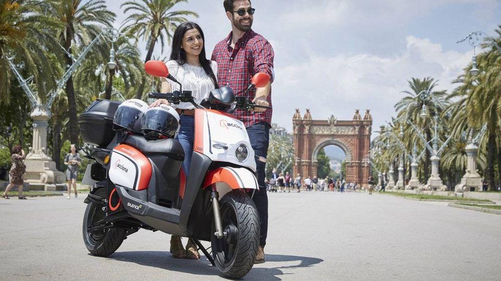 Foto: Motos compartidas de Acciona en Barcelona. (Foto: Acciona)