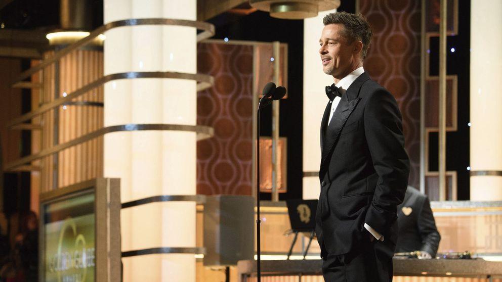 Brad Pitt deslumbra en su aparición en los Globos de Oro