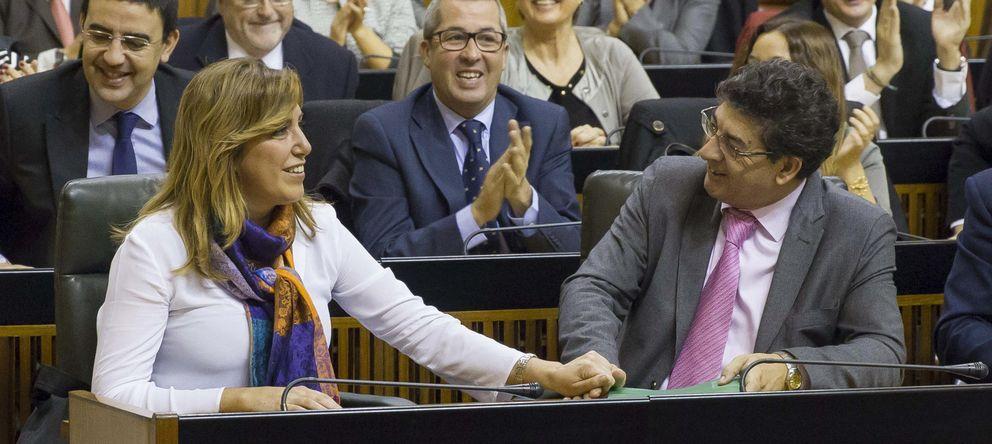 Foto: La presidenta andaluza, Susana Díaz, y el vicepresidente Diego Valeras (IU) (EFE)