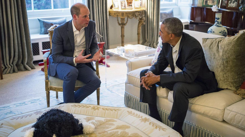 Obama y el duque de Cambridge, en Kensington. (Reuters)