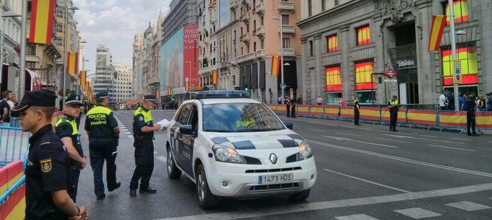 Foto: Gran Vía amanece en Madrid (Foto: E.C.)