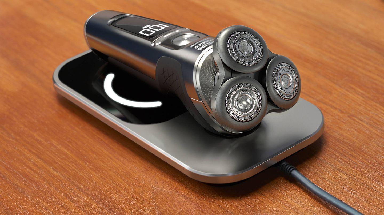 Con el cargador con tecnología Qi podrás recargar por inducción tanto la afeitadora como los teléfonos móviles compatibles.