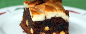 Boda anglosajona: brownie de cheese cake y piñones
