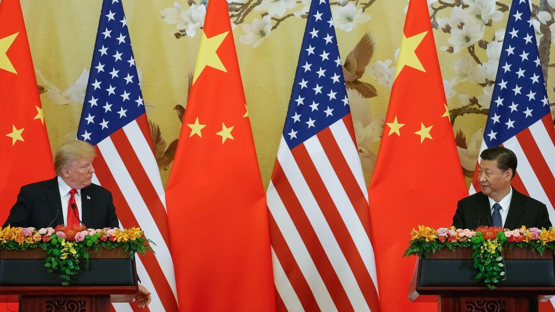 El presidente de los EEUU, Donald Trump (i), y su homólogo chino, Xi Jingping. (EFE)