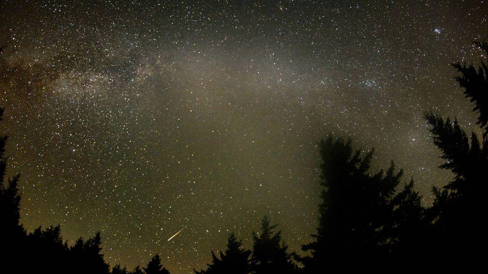 Foto: Una imagen del cielo en Virginia durante las Perseidas. (NASA)